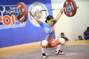 Las primas se reparten medallas de oro en el Panam de pesas
