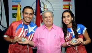 El dúo mixto Estrada y Fernández gana oro Iberoamericano