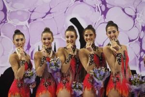 España revalida oro mundial en gimnasia rítmica en Izmir 2014