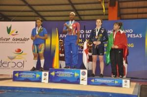Crismeri Santana y Yafreisi Silvestre ponen en alto las pesas dominicanas