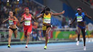 Elaine Thompson completa el doblete de la velocidad