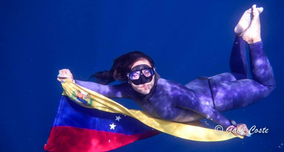 La colombiana Sofía Gómez consigue un nuevo récord mundial de apnea
