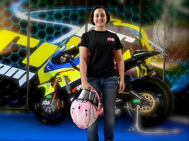 La piloto que sueña con correr en la MotoGP