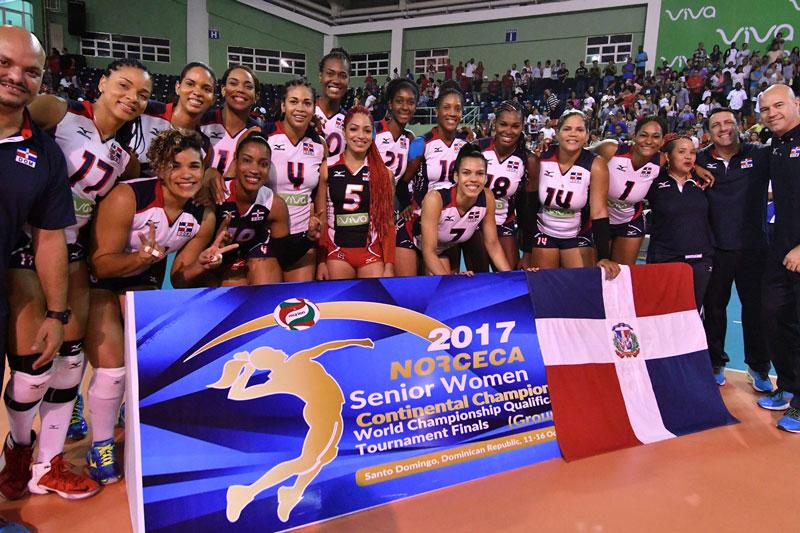 """""""Las Reinas del Caribe"""" vencen  3-0 a Puerto Rico y ganan oro en voleibol"""