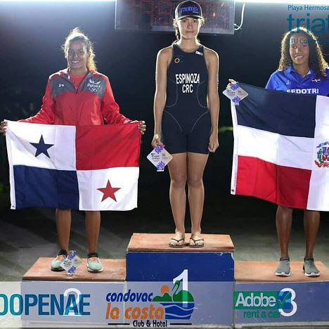 Camila Romero obtiene bronce en triatlón Centroamericano de Costa Rica