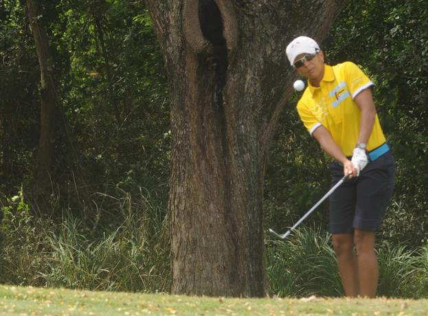 Karina Sánchez, la principal figura del golf femenino dominicano