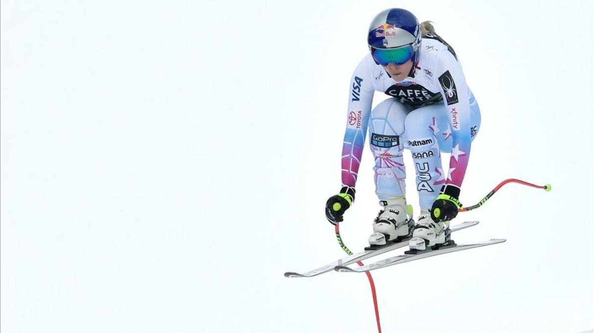 Lindsey Vonn gana el último descenso de la temporada