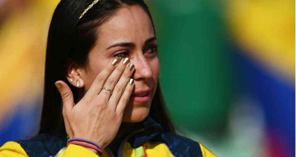 """Pajón, la reina del BMX está afectada por un """"beso"""" que merma su desempeño"""