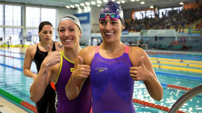 Michelle Alonso, con las mejores nadadoras españolas en el absoluto