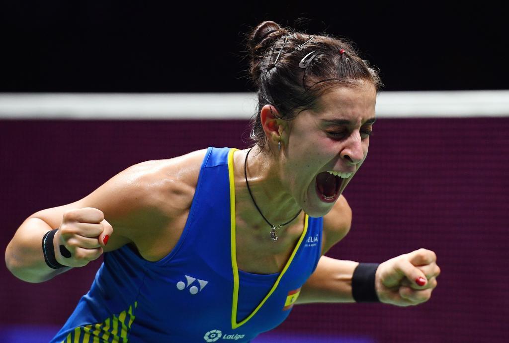 Carolina Marín, primera en ganar tres mundiales al hilo en bádminton