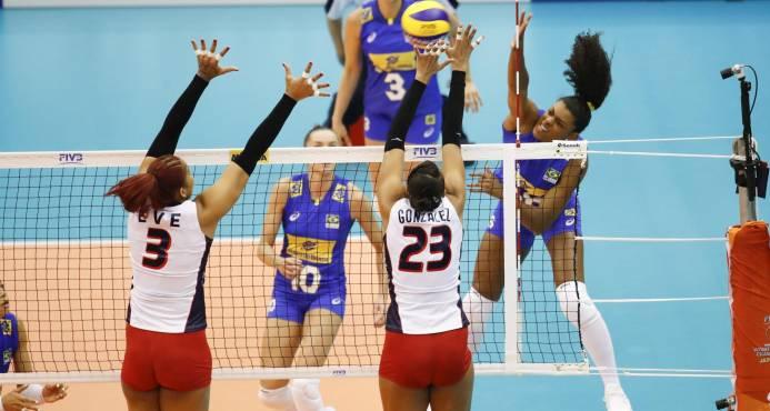 Brasil derrota a Dominicana en el Mundial de Voleibol