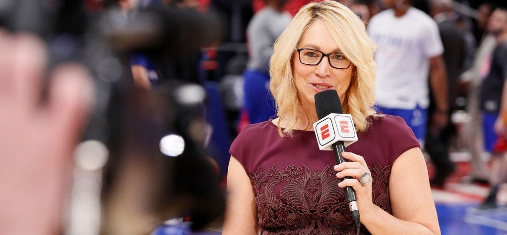 Doris Burke agradece a LeBron y CP3 al ganar el Curt Gowdy Media