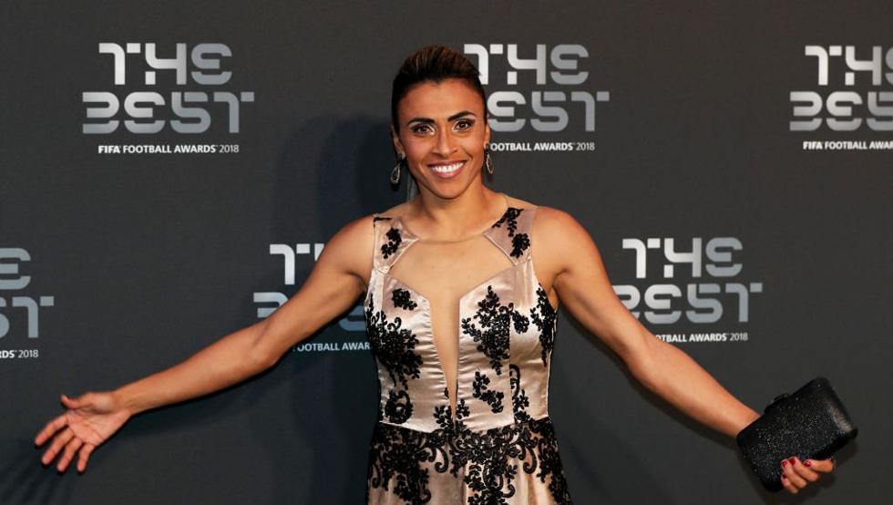 Marta, elegida por sexta vez como la mejor futbolista