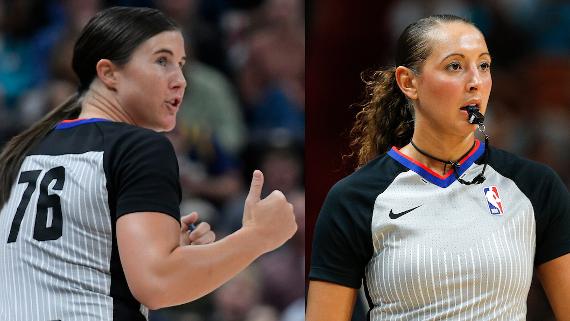 Dos mujeres, promovidas para árbitros NBA de tiempo completo