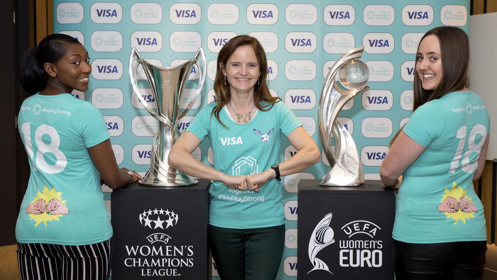 Visa firma un innovador acuerdo sobre fútbol femenino con la UEFA