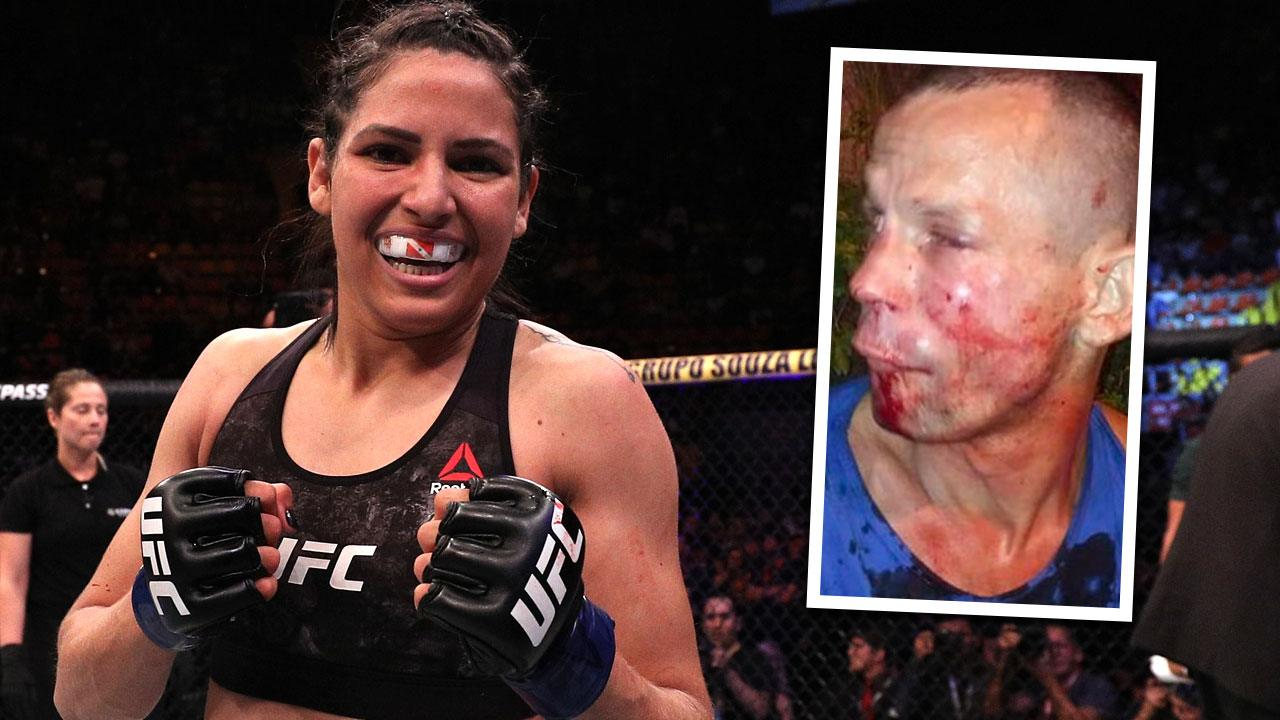 Una luchadora de la UFC le da una paliza a un atracador