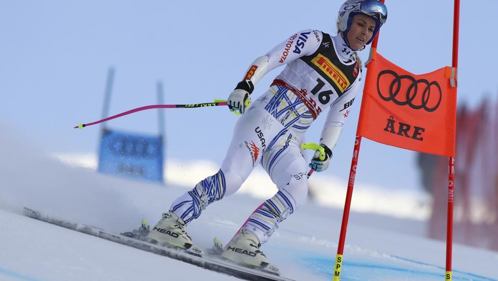 Lindsey Vonn cae en el último supergigante de su carrera
