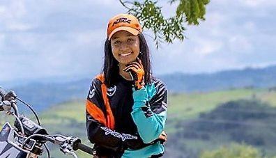 Jossiely Brito, lista para el motocross