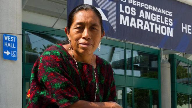 La primera guatemalteca maya que corre el Maratón de Los Ángeles