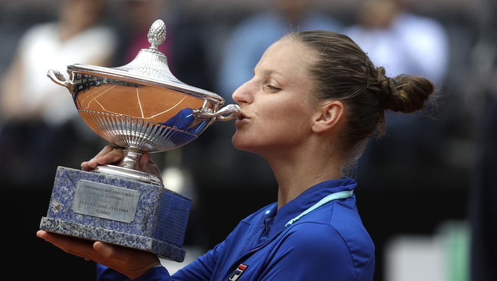 Karolina Pliskova, campeona de Roma