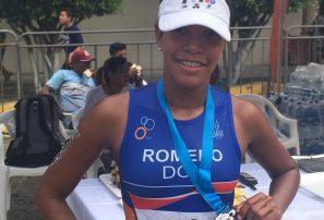 Camila Romero se coloca en la sexta posición en el triatlón de América