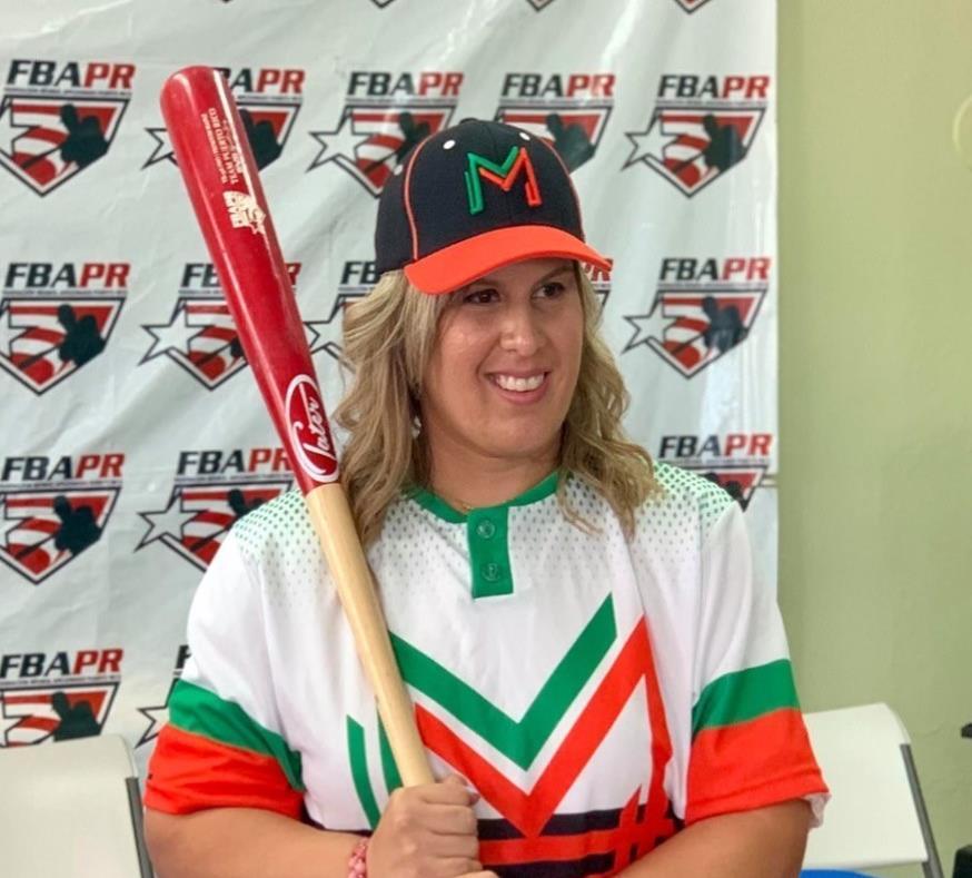 Una mujer hará historia al jugar en béisbol AA de Puerto Rico