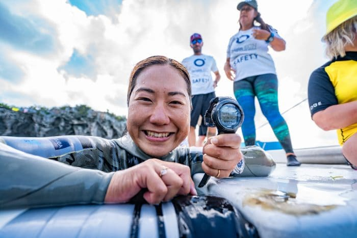 Fallece la nadadora japonesa Kinoshita, récord mundial de inmersión